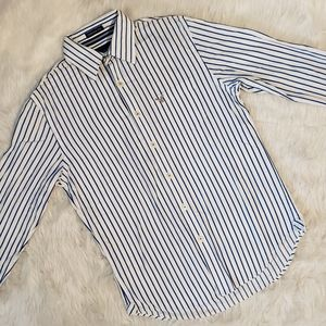 American Eagle Vintage Fit Striped Button Down
